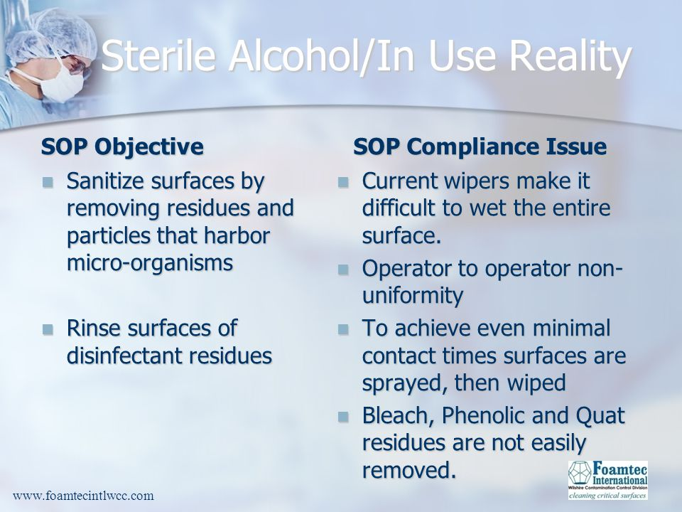 Sterile Alcohol/In Use Reality