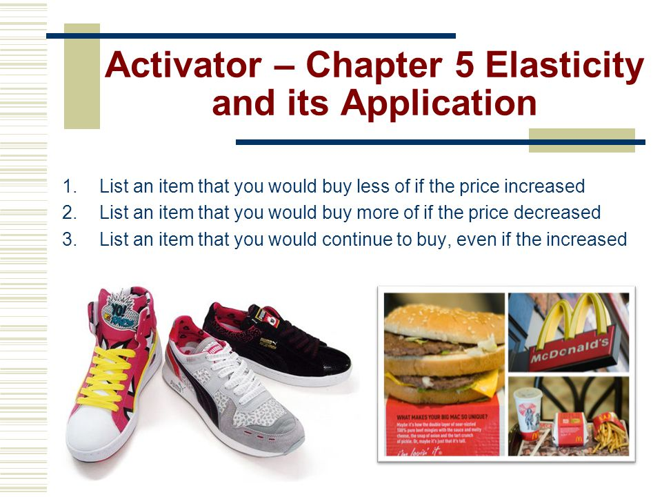 Activator – Chapter 5 Elasticity and its Application
