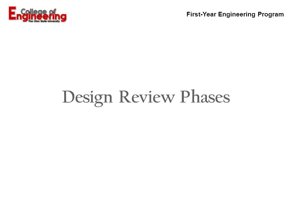 Design Review Phases