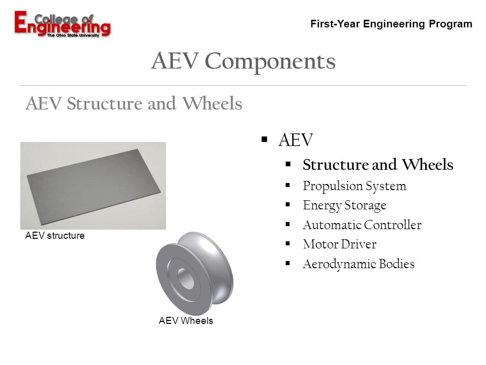 AEV Components AEV Structure and Wheels AEV Structure and Wheels