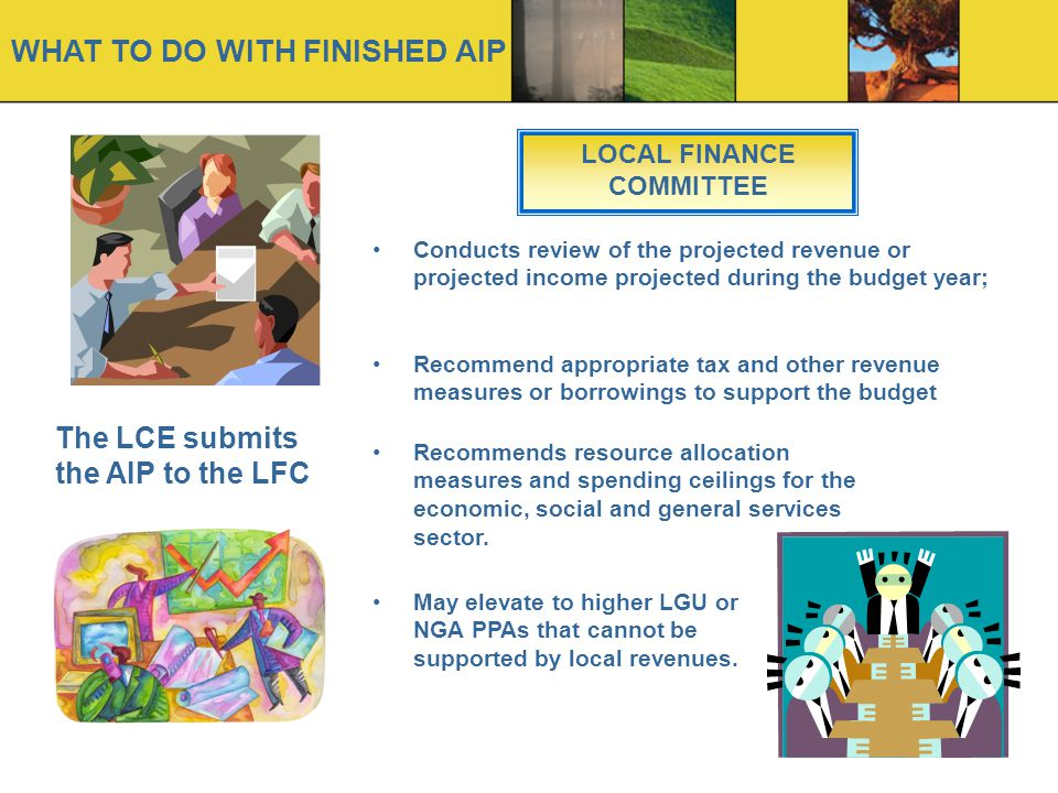 LOCAL FINANCE COMMITTEE
