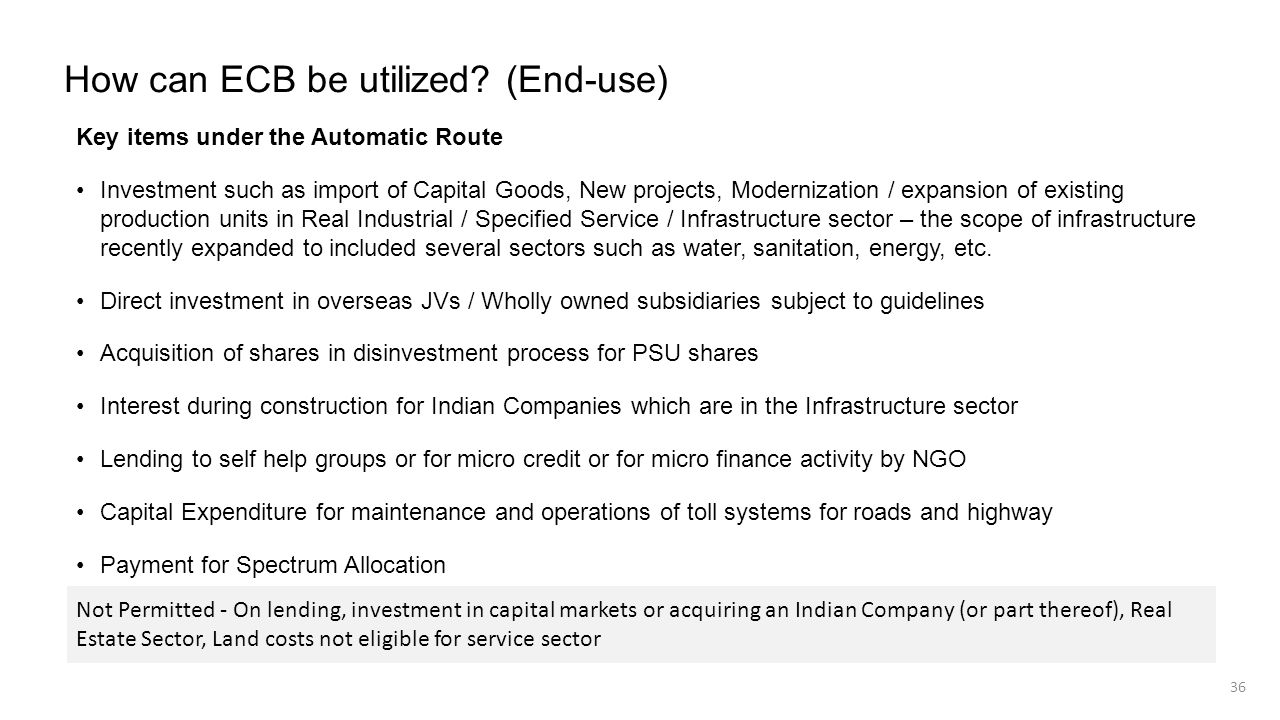 How can ECB be utilized (End-use)
