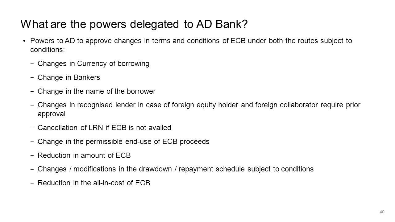 What are the powers delegated to AD Bank