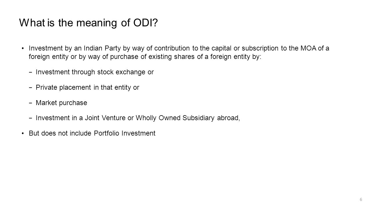 What is the meaning of ODI