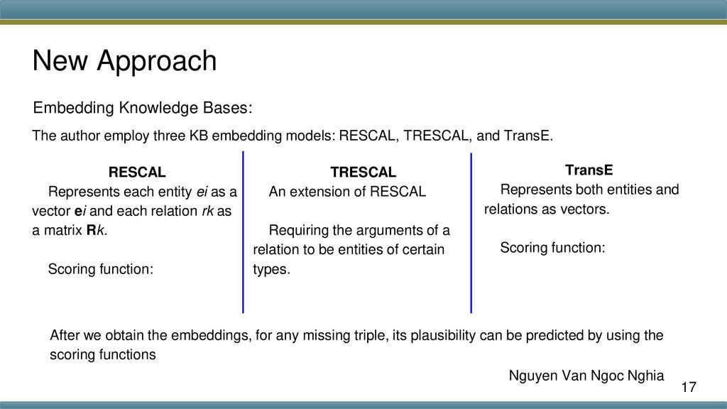 Knowledge Base Completion Using Embeddings and Rules - ppt