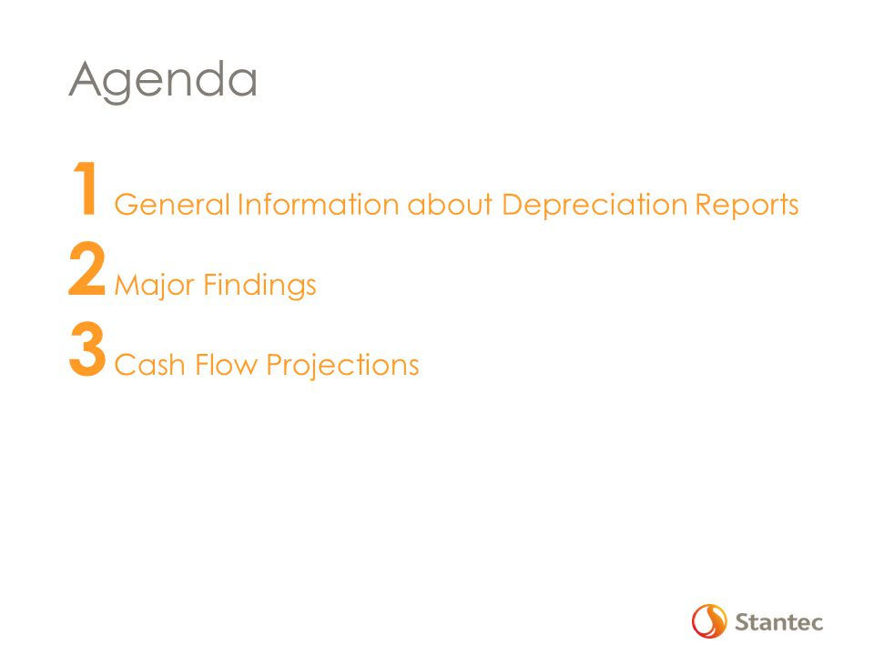 1 General Information about Depreciation Reports 2 Major Findings