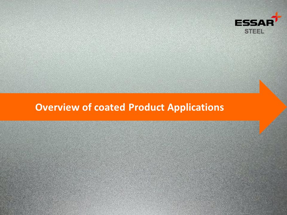 Overview of coated Product Applications