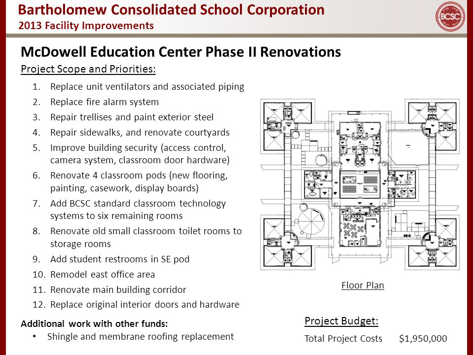 McDowell Education Center Phase II Renovations