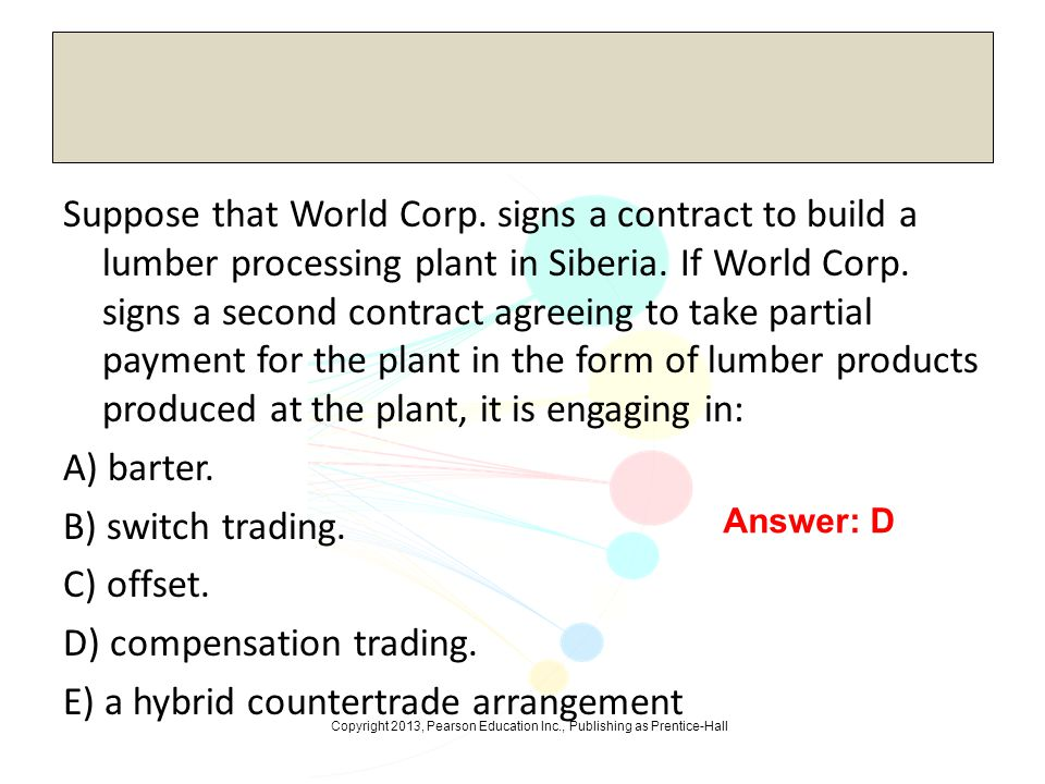 Suppose that World Corp