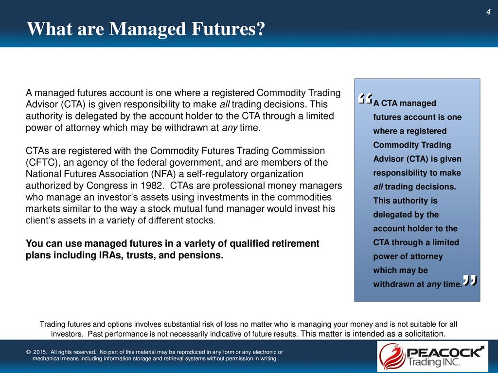 Understanding Professionally Managed Futures - ppt download