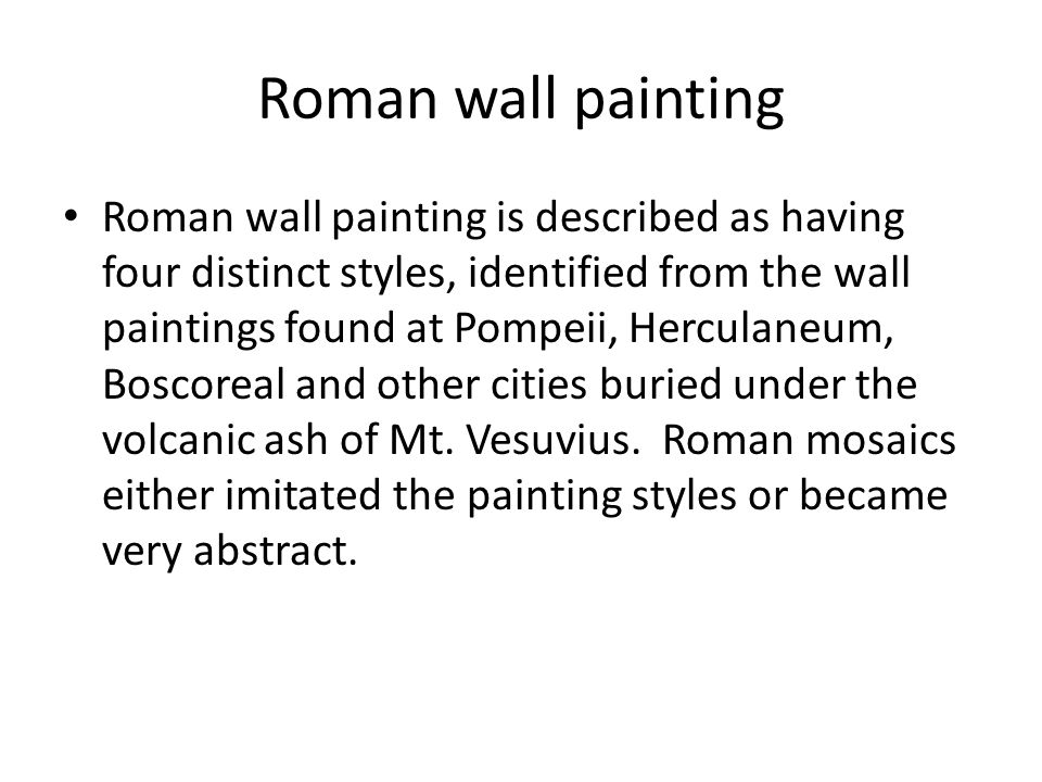 Roman wall painting