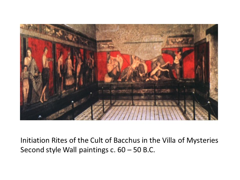 Initiation Rites of the Cult of Bacchus in the Villa of Mysteries Second style Wall paintings c.