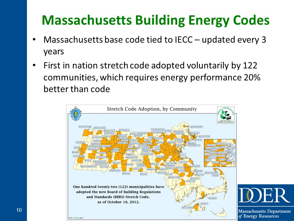 Massachusetts Building Energy Codes