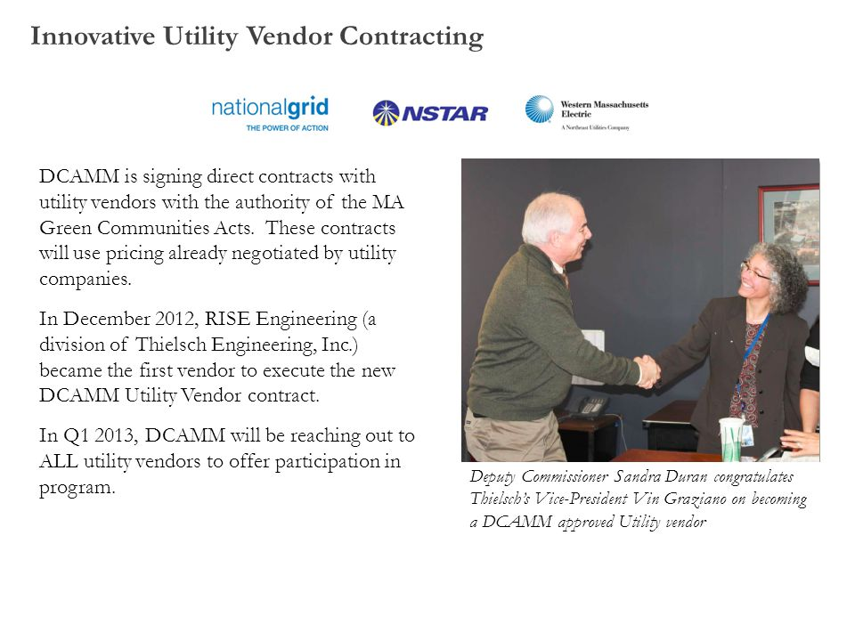 Innovative Utility Vendor Contracting