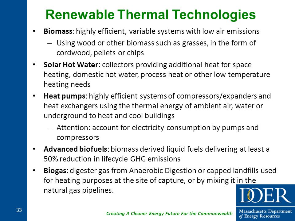 Renewable Thermal Technologies