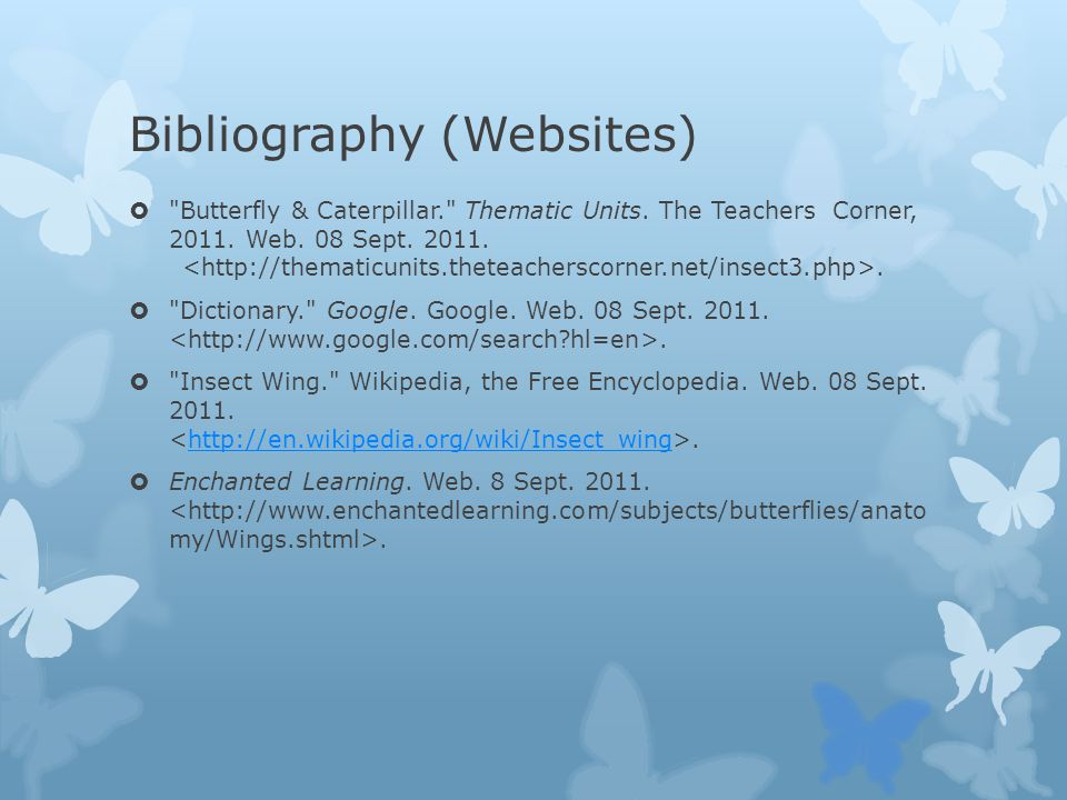 Bibliography (Websites)