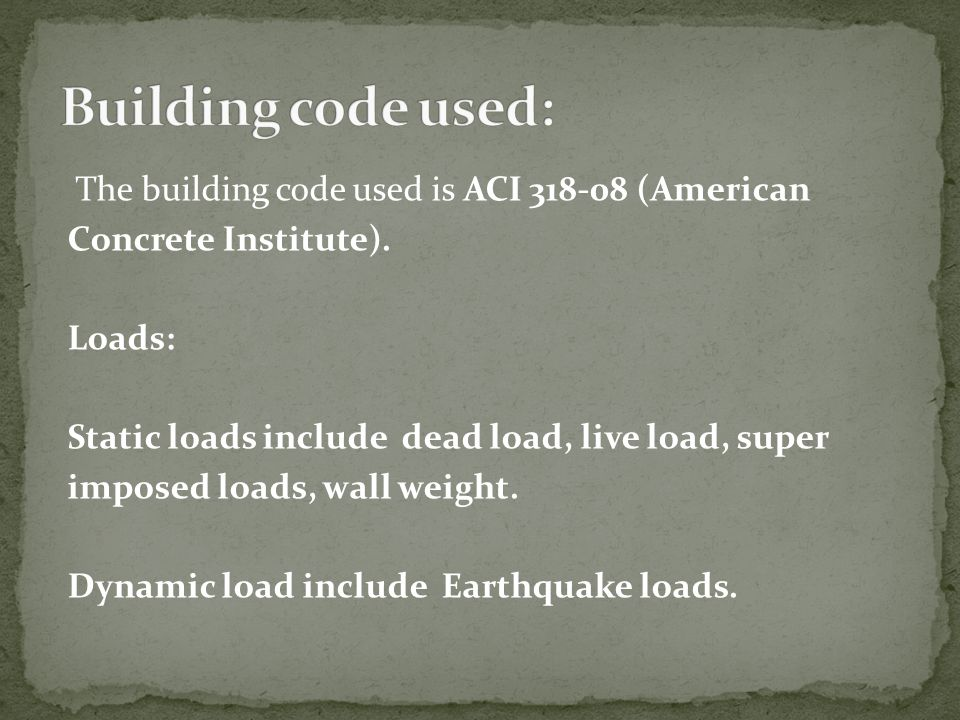 Building code used: