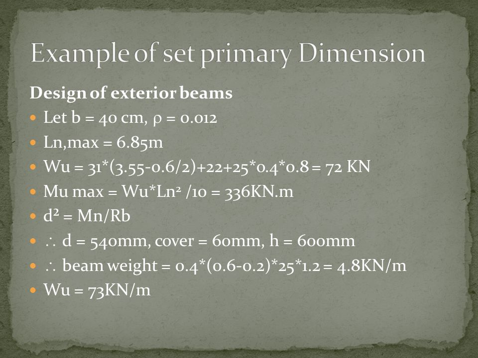 Example of set primary Dimension
