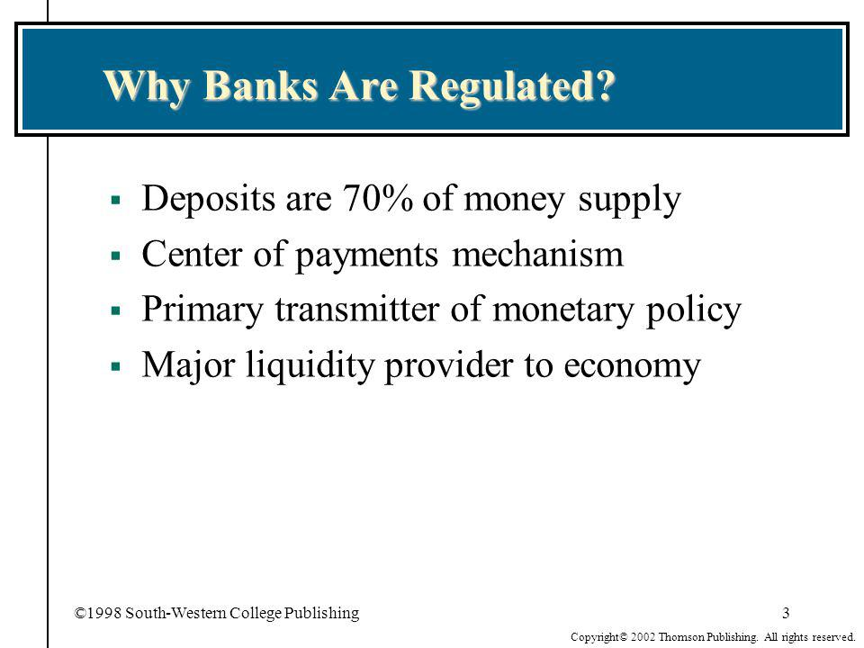 Why Banks Are Regulated