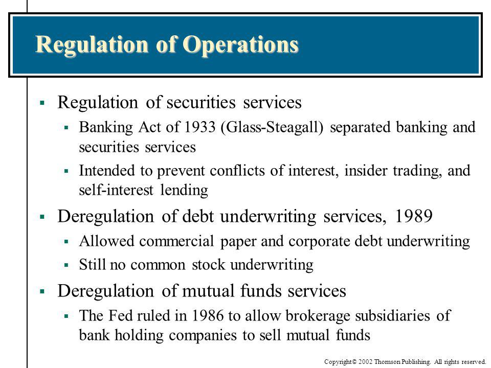Regulation of Operations