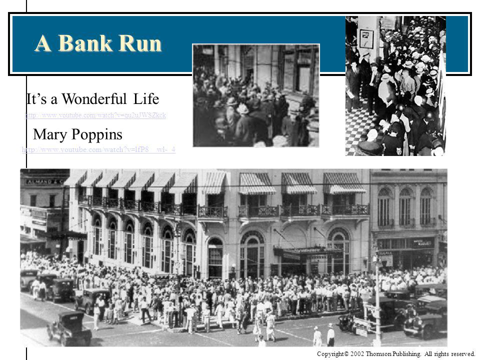 A Bank Run It's a Wonderful Life Mary Poppins