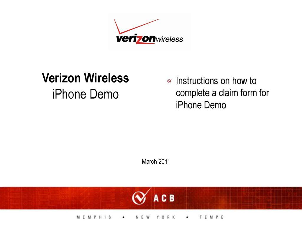 Verizon Wireless Iphone Demo Ppt Download