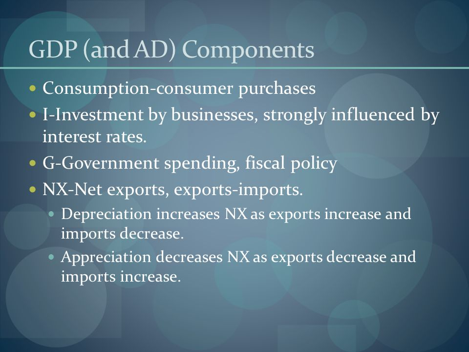 GDP (and AD) Components