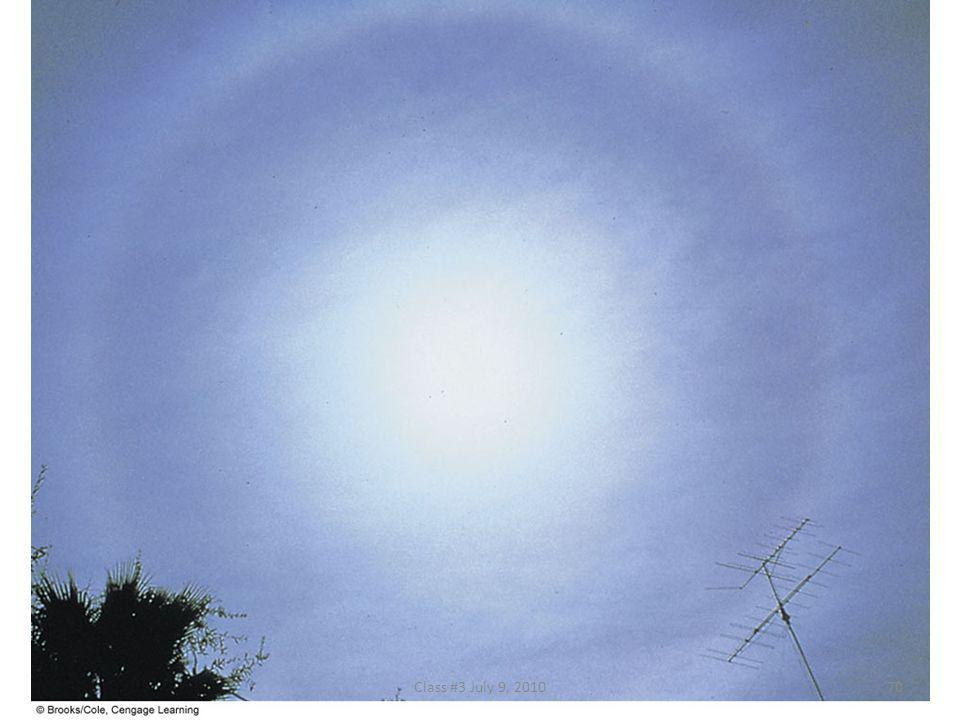 FIGURE 5.15 Cirrostratus clouds with a faint halo encircling the