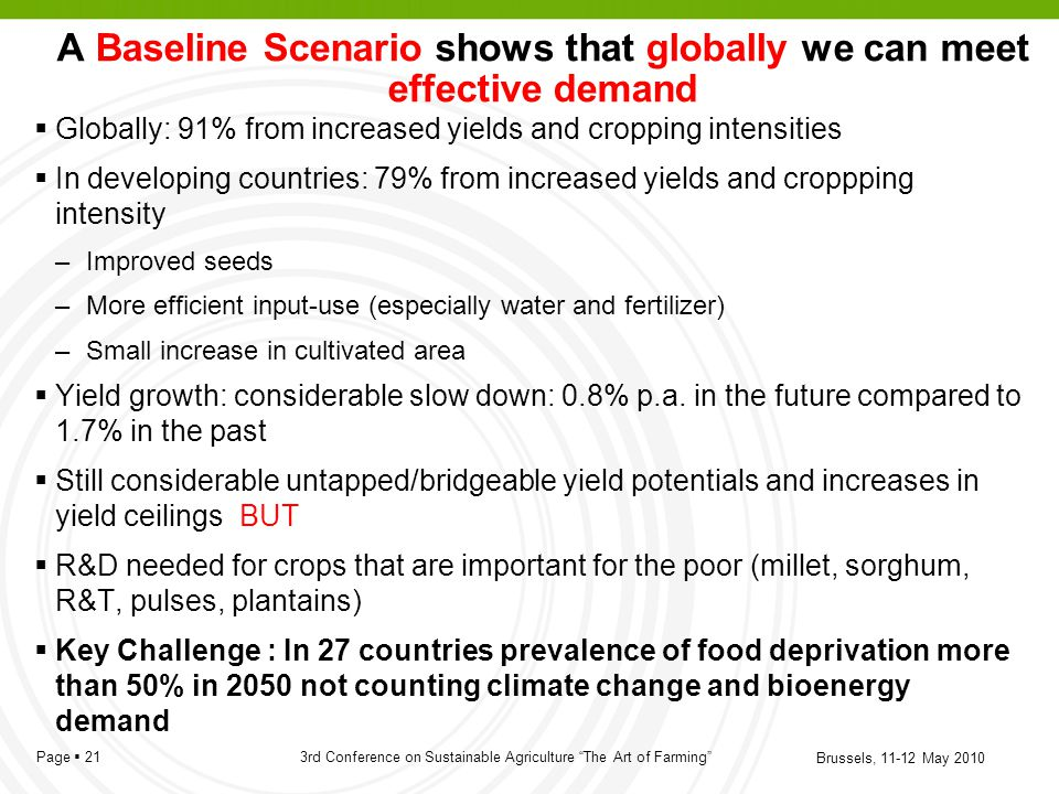 A Baseline Scenario shows that globally we can meet effective demand