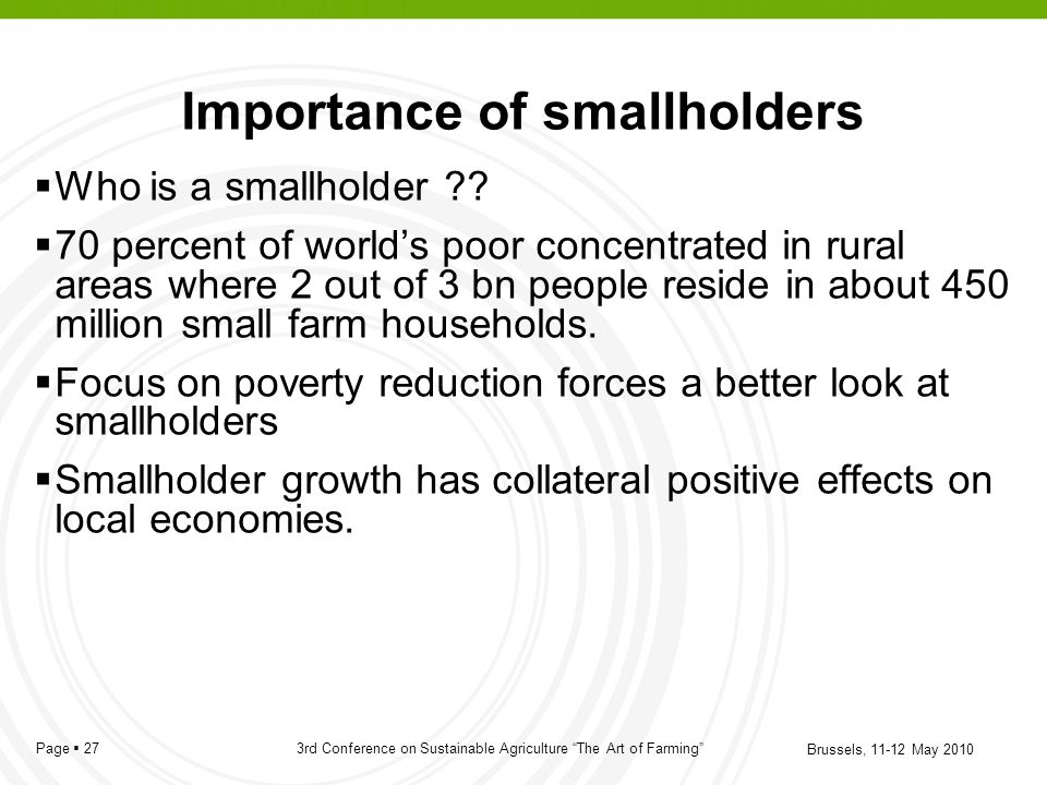 Importance of smallholders