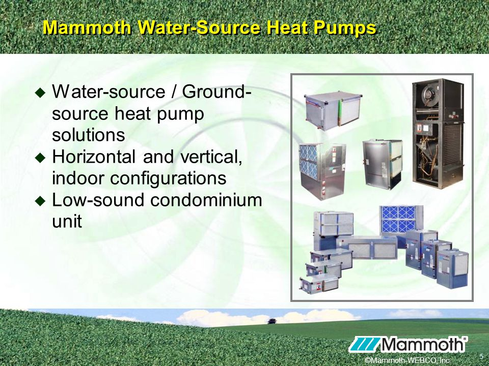 Mammoth Water-Source Heat Pumps - ppt video online download on