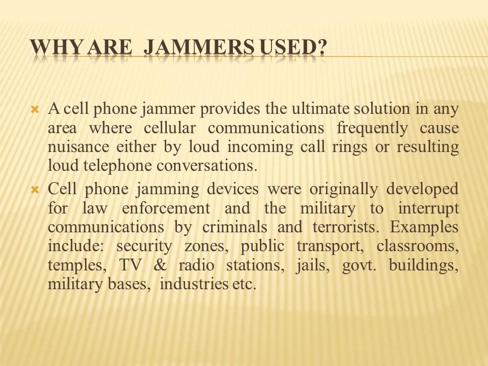 Cell Phone Jammer By:- Ganesh Pathak Pallavi Mantri Rohit