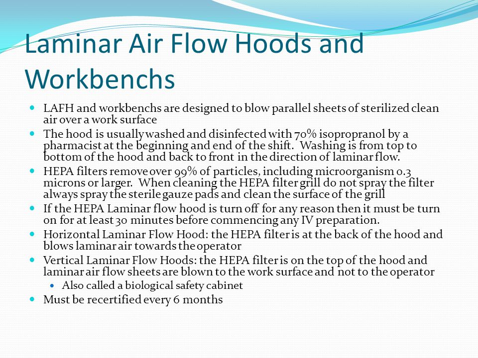 Laminar Air Flow Hoods and Workbenchs