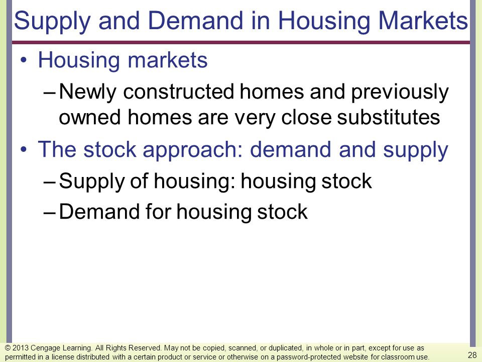 Supply and Demand in Housing Markets