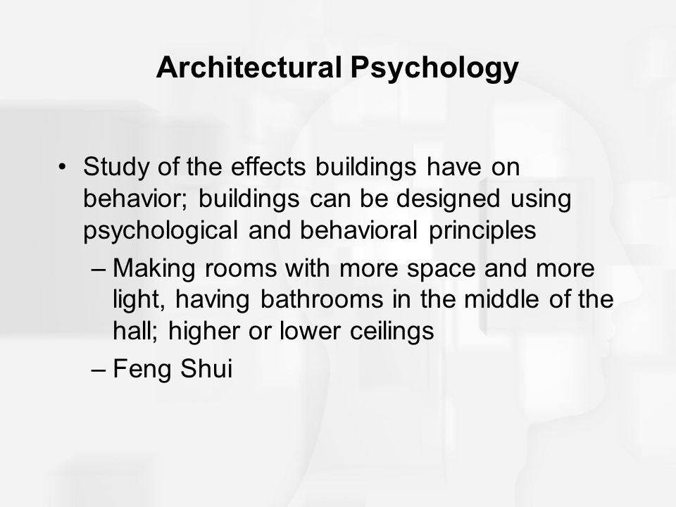 Architectural Psychology