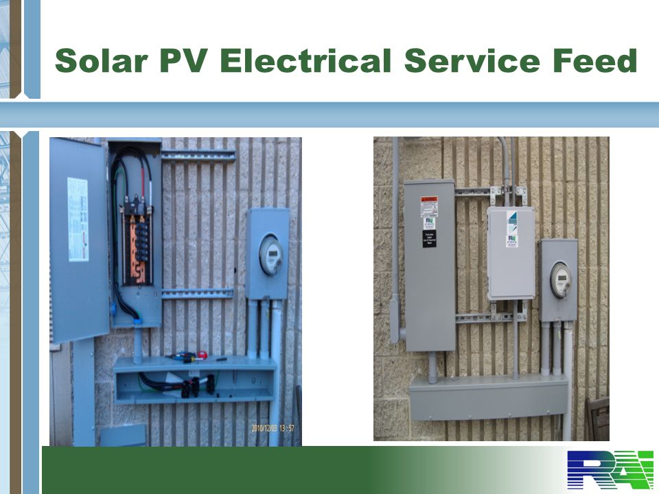 Solar PV Electrical Service Feed