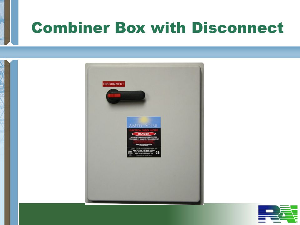 Combiner Box with Disconnect