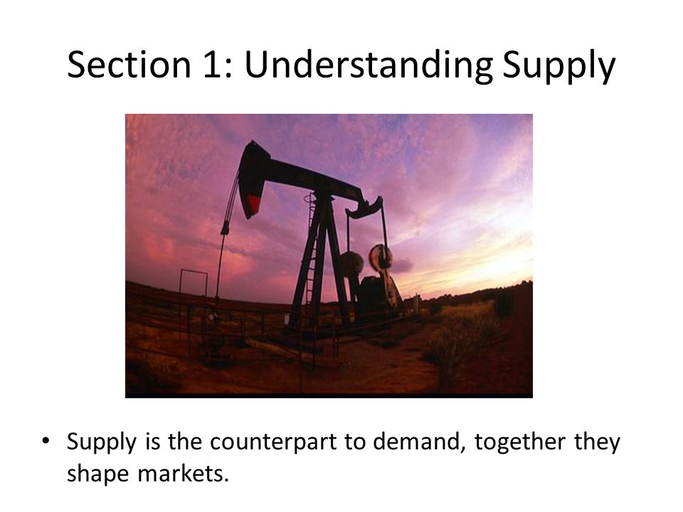 Section 1: Understanding Supply