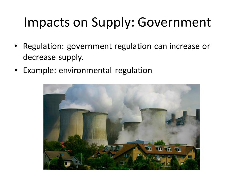 Impacts on Supply: Government
