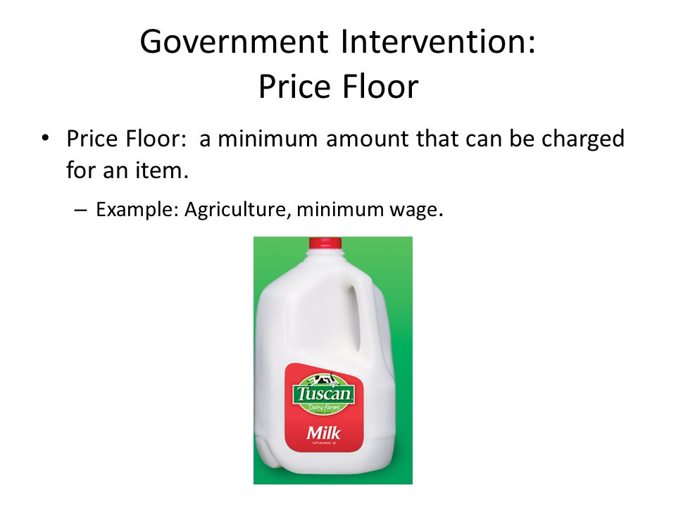 Government Intervention: Price Floor