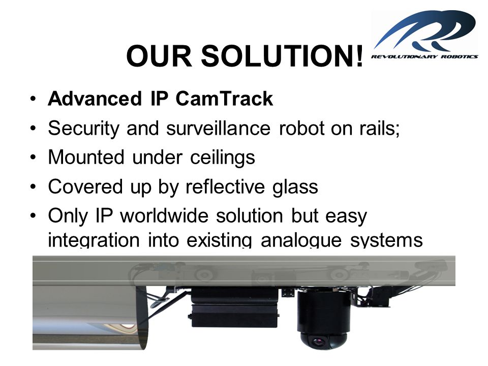 OUR SOLUTION! Advanced IP CamTrack