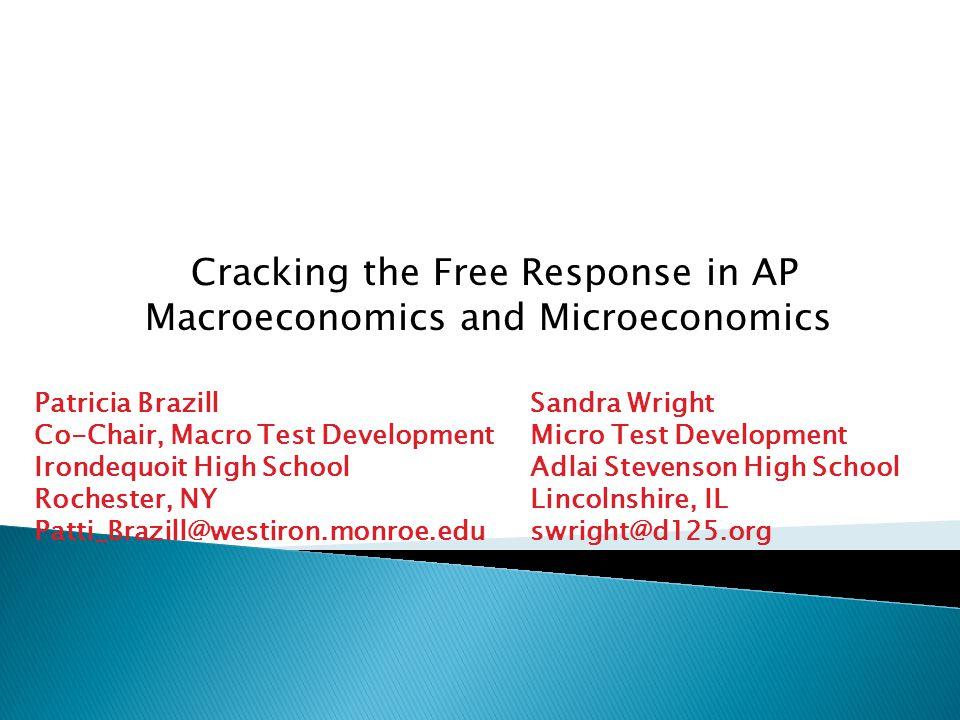 Cracking The Free Response In AP Macroeconomics And Microeconomics