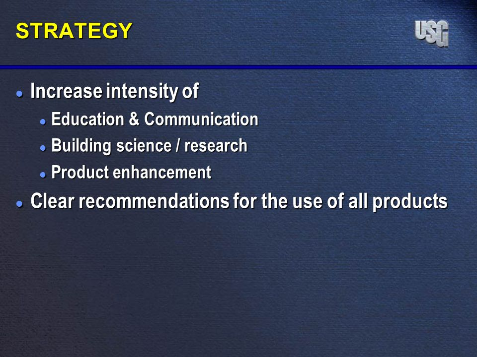 Clear recommendations for the use of all products