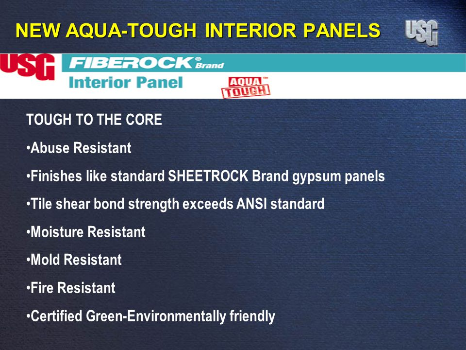 NEW AQUA-TOUGH INTERIOR PANELS