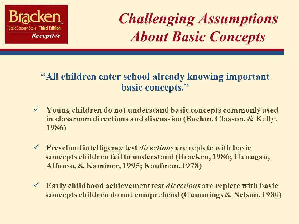 boehm test of basic concepts preschool