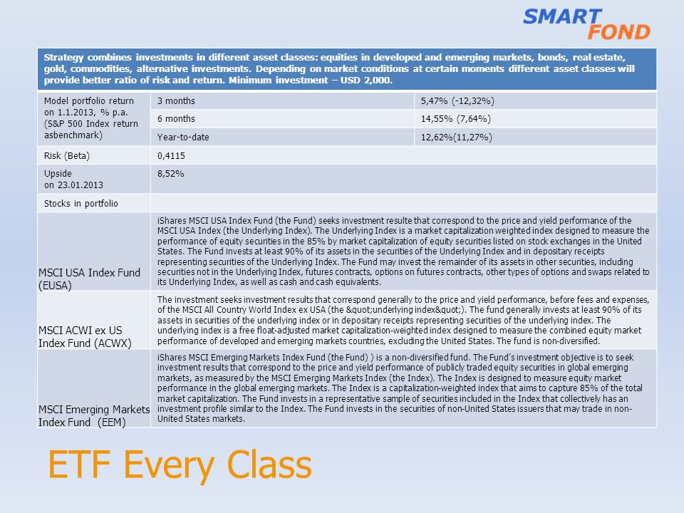ETF Every Class MSCI USA Index Fund (EUSA)