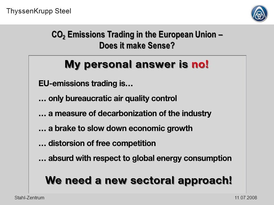 CO2 Emissions Trading in the European Union – Does it make Sense