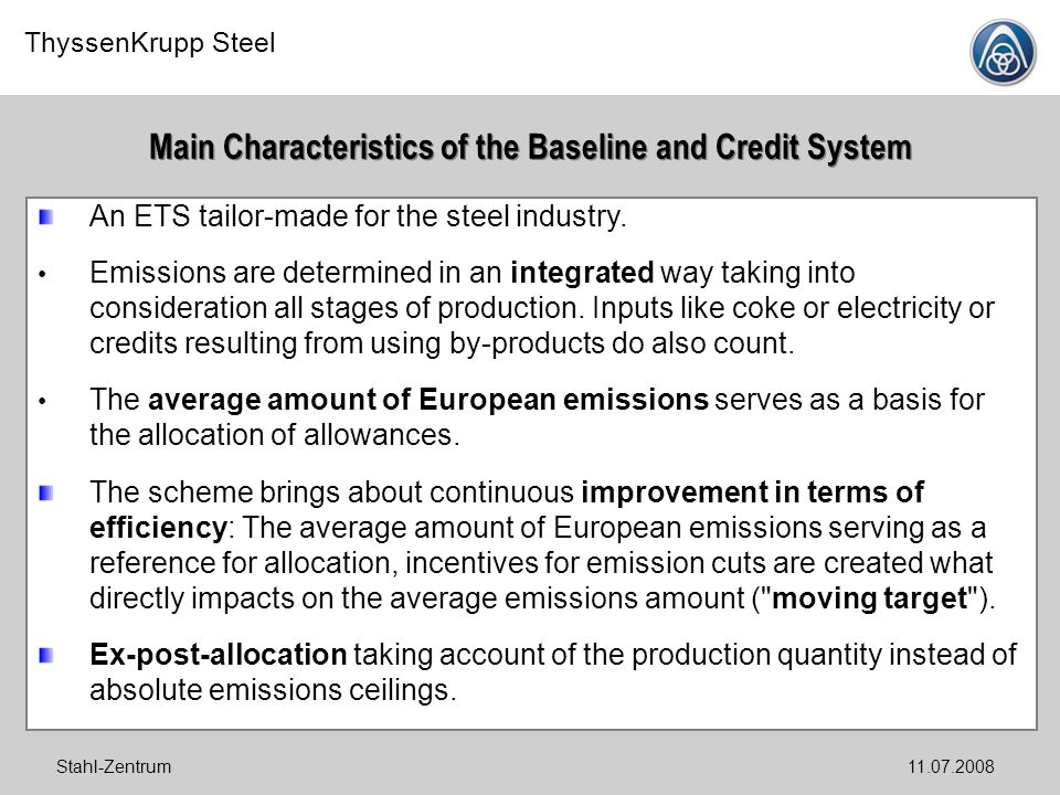 Main Characteristics of the Baseline and Credit System