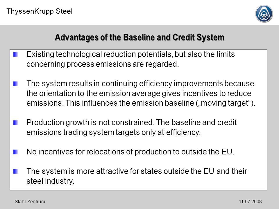 Advantages of the Baseline and Credit System