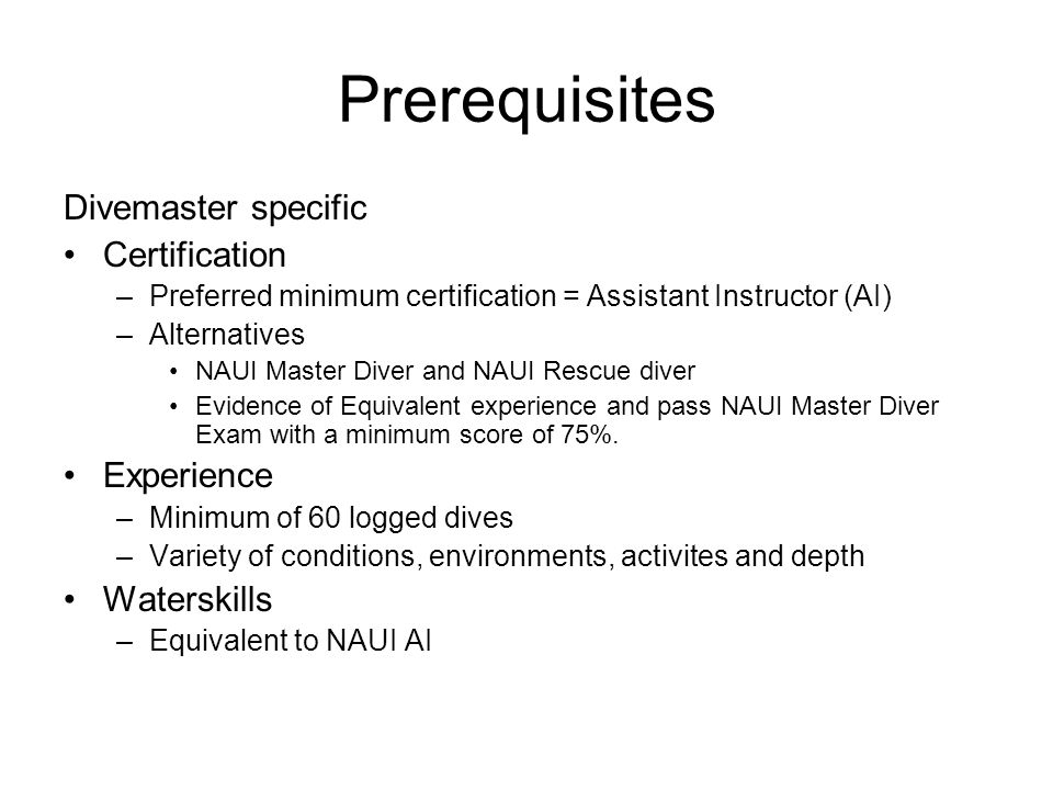 NAUI Divemaster Course Overview - ppt download